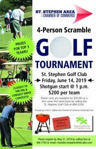 2019 Chamber Golf Tournament Poster