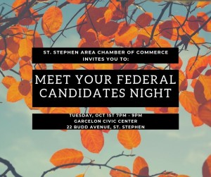 Meet Your Federal Candidates Night Oct 1, 2019