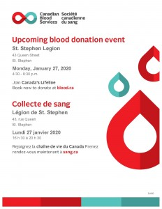 Blood Donor Clinic Jan 2020
