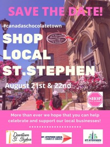 Save the Date - Shop Local St. Stephen 2020