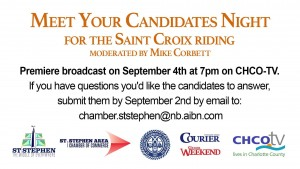 Meet Your Candidates Night for the Saint Croix Riding September 4, 2020