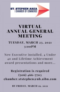 Virtual AGM 2021 Invitation - St. Stephen Chamber of Commerce