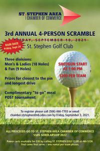 RAIN DATE 2021 Chamber Golf Tournament Poster FINAL